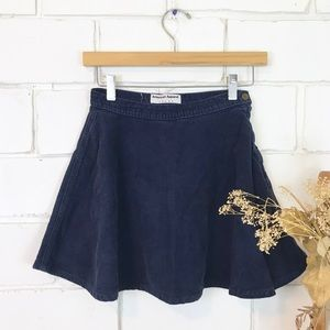 American Apparel blue corduroy circle skirt small